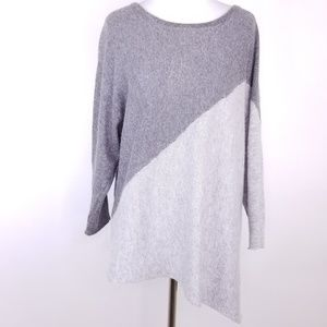 Market&Spruce Cashmere Asymmetrical Sweater Sz M